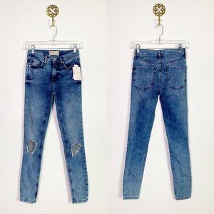 NWT Free People distressed skinny jeans 25R
